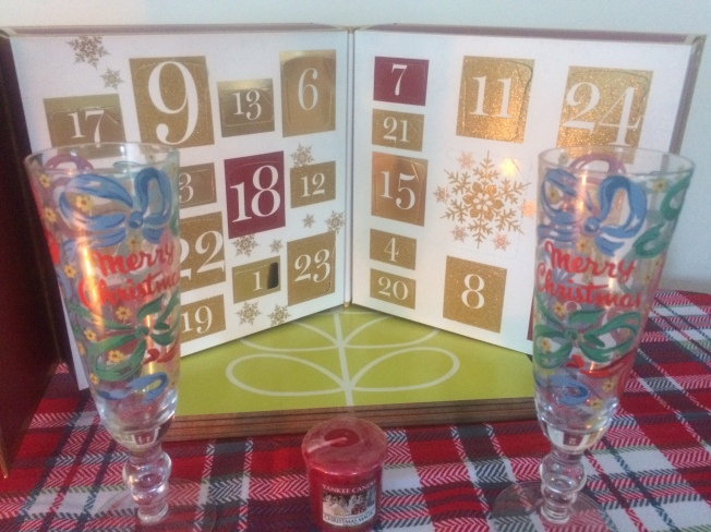 The flutes and advent calendar are two of my favourite things!