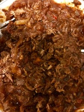 Shredded lamb meat