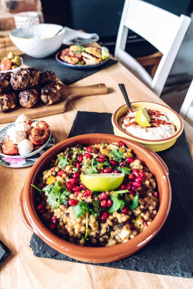 Giant cous cous. Mediterranean feast by Gemma and Life blog. Food blogger. Essex.