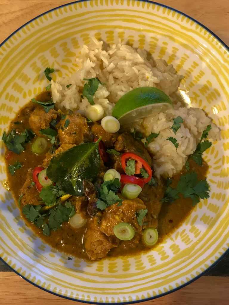 Homemade Malaysian chicken curry