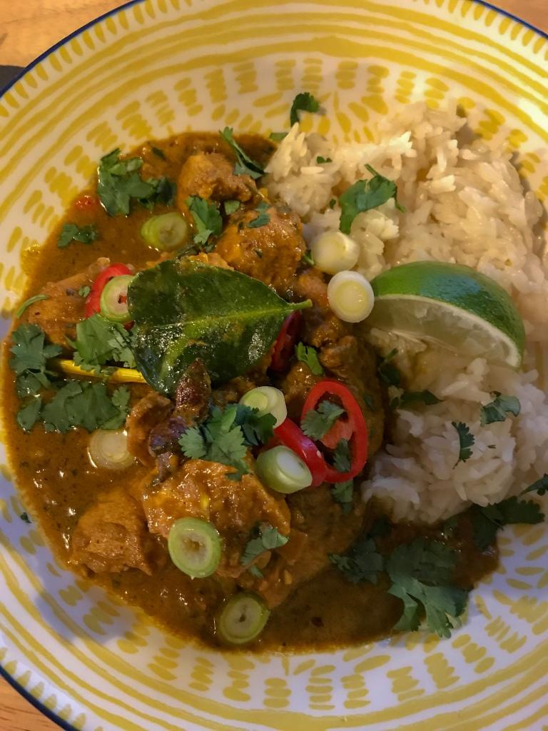 Homemade Malaysian curry recipe. Food blog. Gemma and Life blog