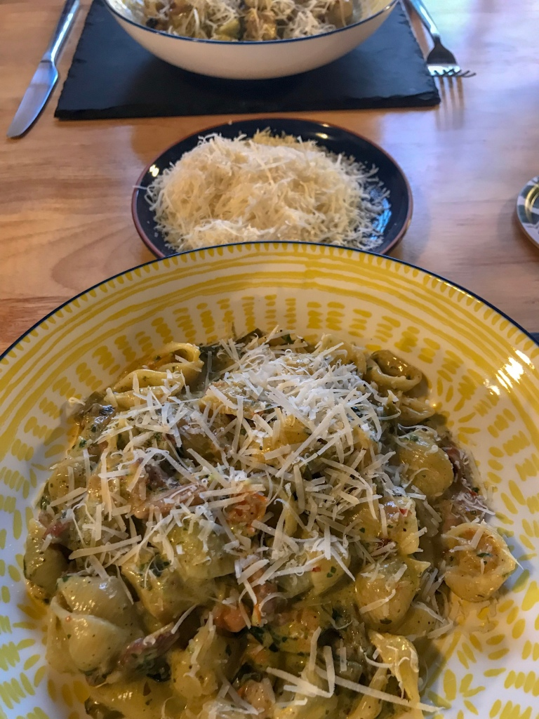 Wild garlic pasta. Food and lifestyle blogger