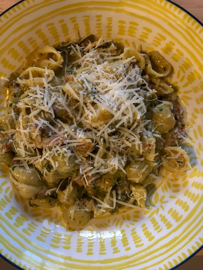 Wild garlic pasta recipe. Food blogger.