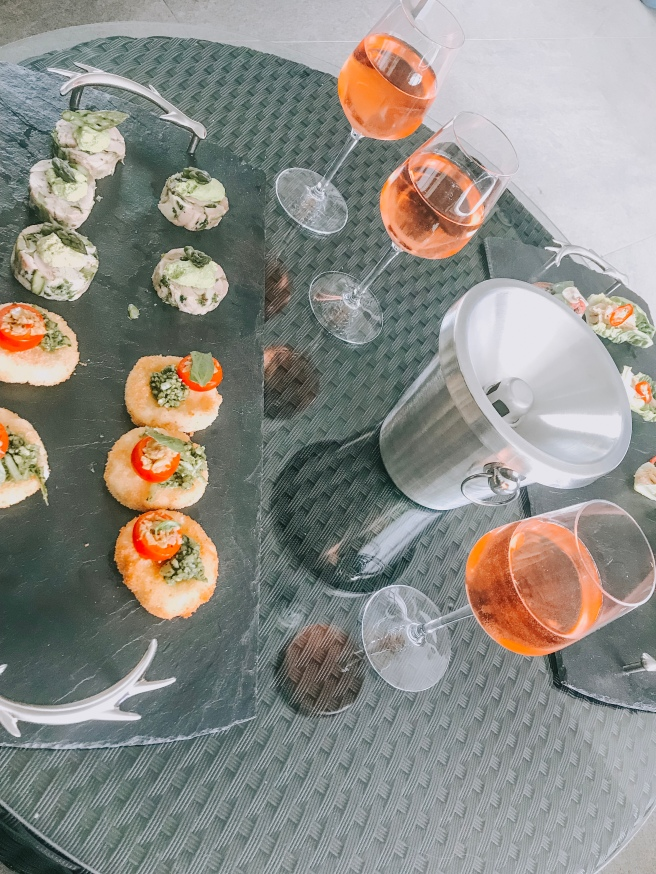 Toppesfield vineyard, canapes and rose wine. Essex food blogger