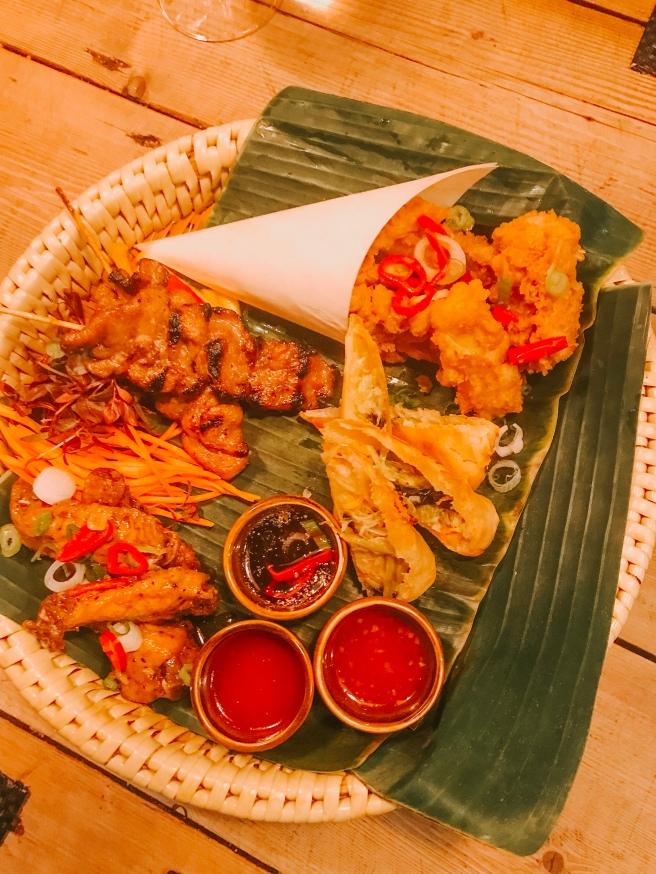 Sharing starter for 2. Giggling squid restaurant.