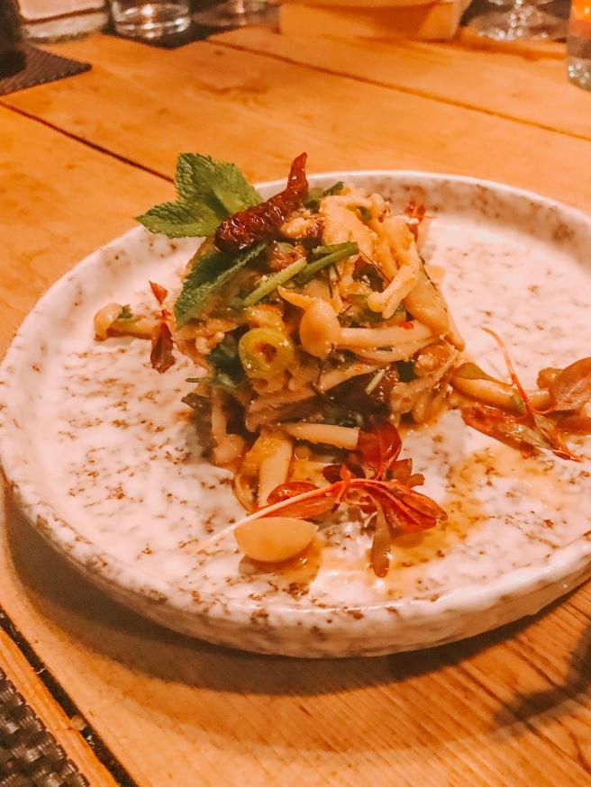 Mushroom larb. Giggling squid restaurant.