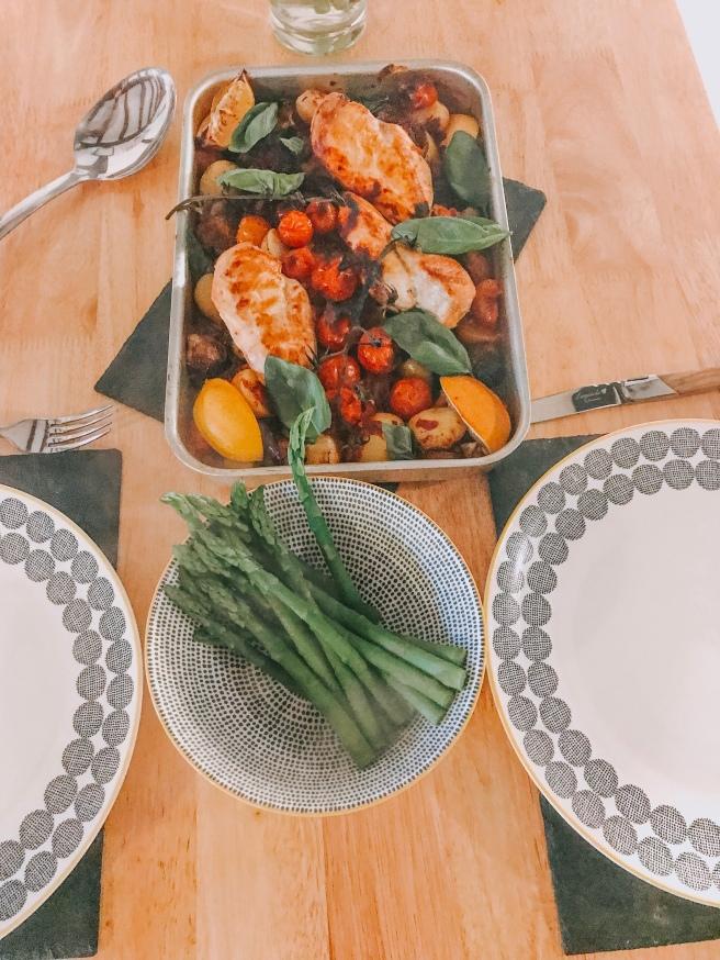 Essex food blog. Chicken and asparagus.