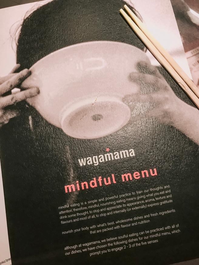Mindful menu - wagamama